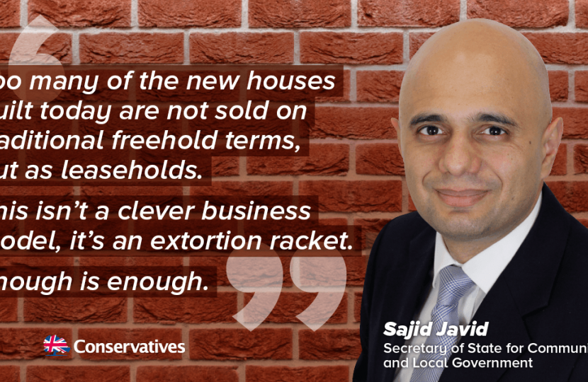 Sajid Javid- David Morris MP leasehold