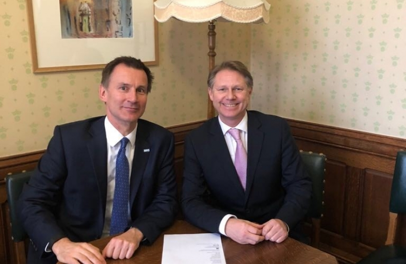 David Morris MP and Jeremy Hunt MP
