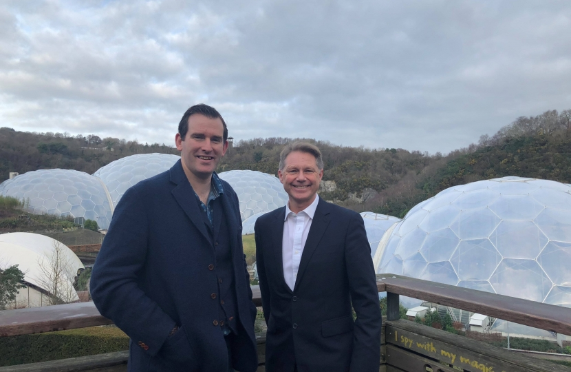 David Morris MP and David Harland at the Eden Porject Cornwall