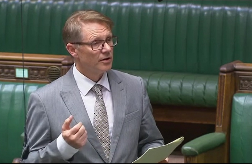David Morris MP in the chamber