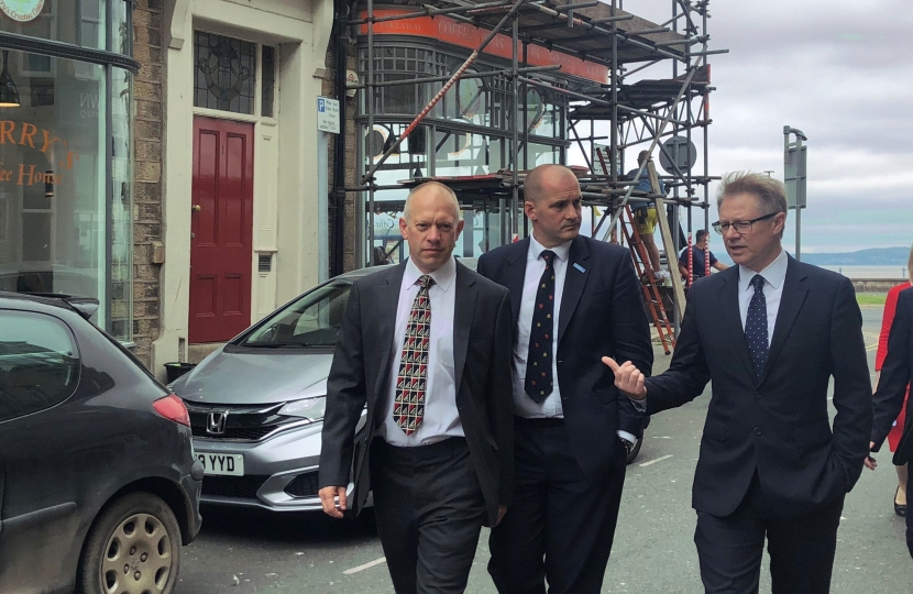 Northern Powerhouse Minister with David Morris MP announcing funding for Morecambe High Street