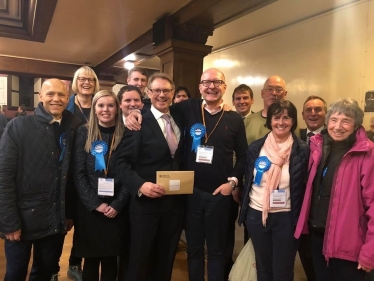 David Morris MP and his team at the General Election Count